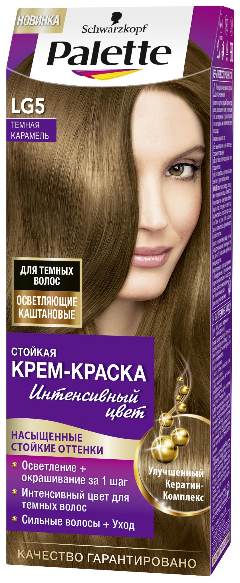 Палитра красок для волос карамельных оттенков
